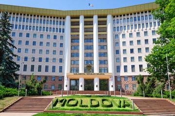 Chișinău, la sede del parlamento moldavo - foto  © Serghei Starus/Shutterstock