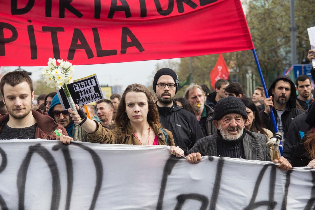 Protest u Beogradu (foto G. Vale)