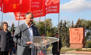 Igor Dodon, il candidato del partito Socialista (Psrm)
