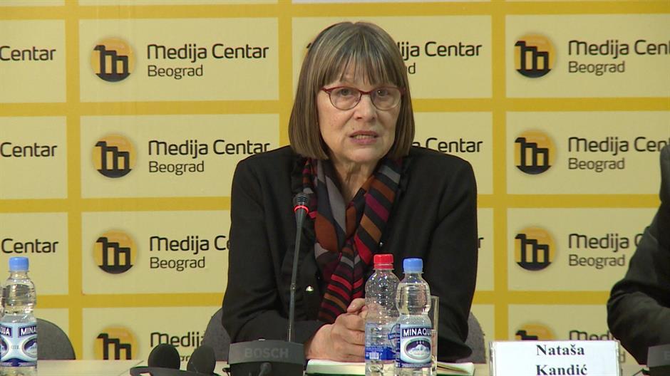 Nataša Kandić, una delle fondatrici di Rekom (foto Medija Centar Beograd)