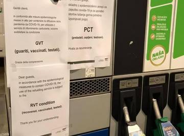 Pompa di benzina in Slovenia - Obc Transeuropa