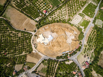 vista dall'alto del sito archeologico di Arslantepe