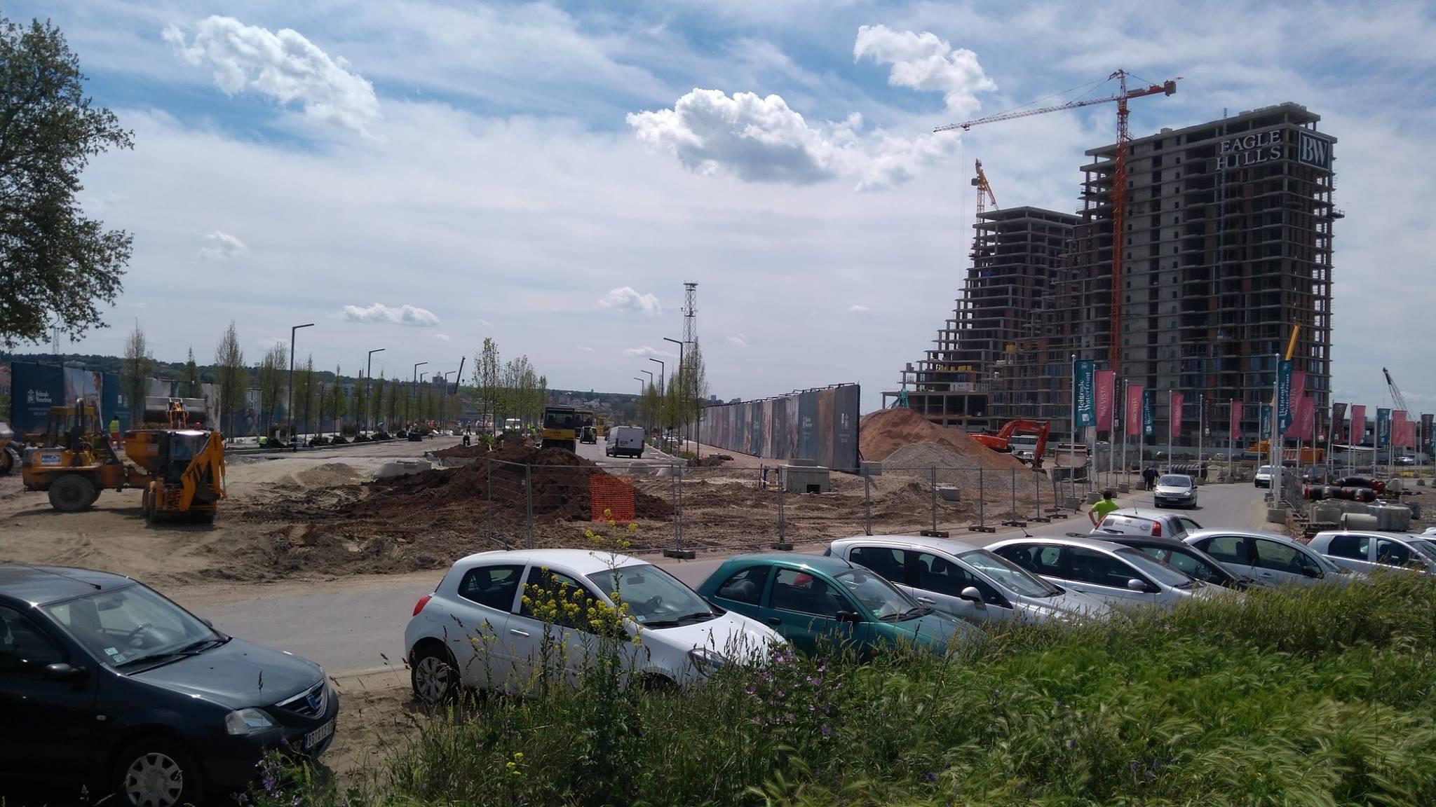 Belgrado sull'acqua in costruzione - Foto Silvia Maraone