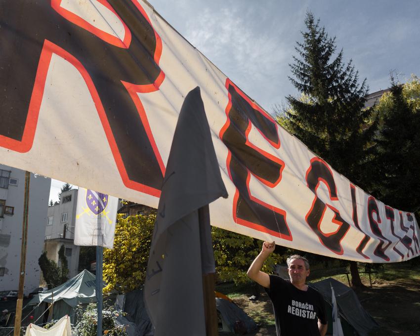 Sarajevo: proteste dei veterani (Foto Marlin Dedaj)