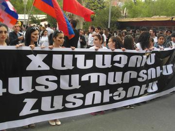 Le commemorazioni dell'anno scorso a Yerevan (Foto Simone Zoppellaro)