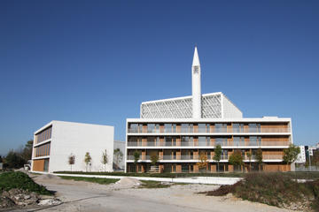 La moschea a Lubiana, in una fase in cui era ancora in costruzione (© B7 Photography/Shutterstock)