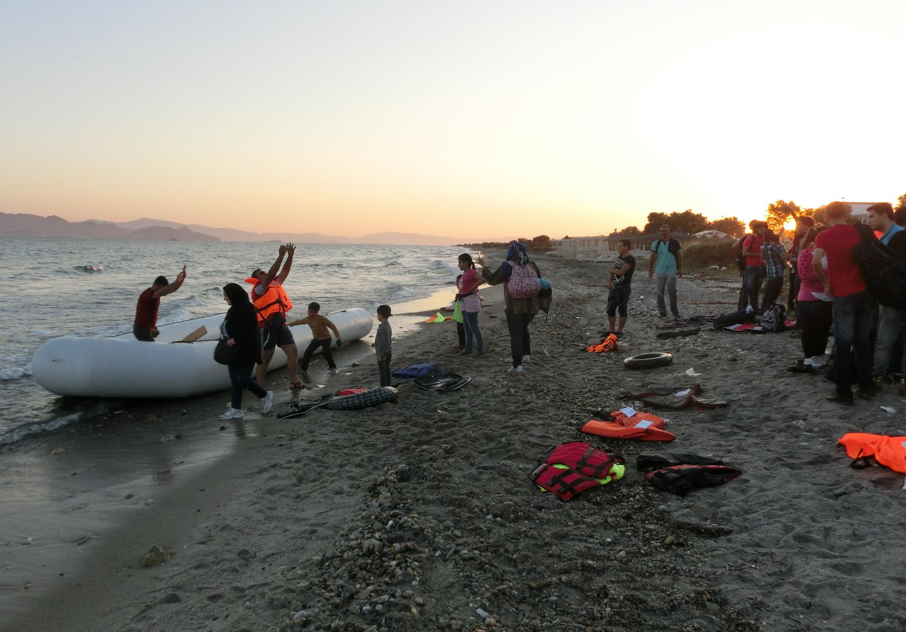 Sbarchi di rifugiati sulle coste greche