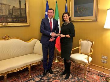Incontro Italia-Kosovo a Montecitorio, 1 marzo 2017 - Camera della Repubblica.jpg
