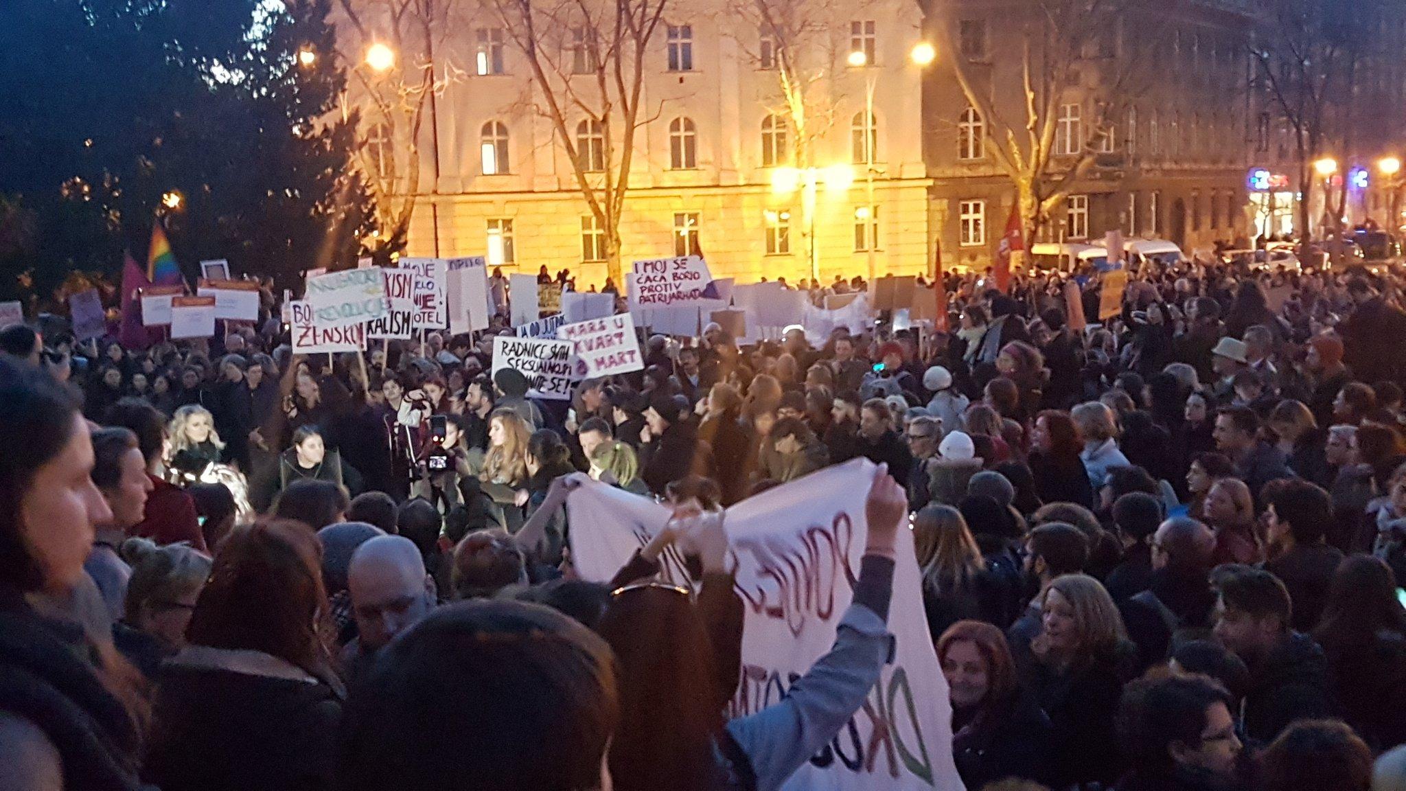 8 marzo a Zagabria (foto @teolin8)