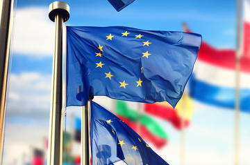 Bandiera dell'UE © symbiot/Shutterstock