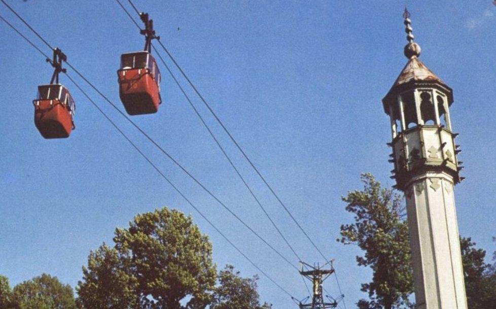 Una foto d'epoca della funivia di Sarajevo