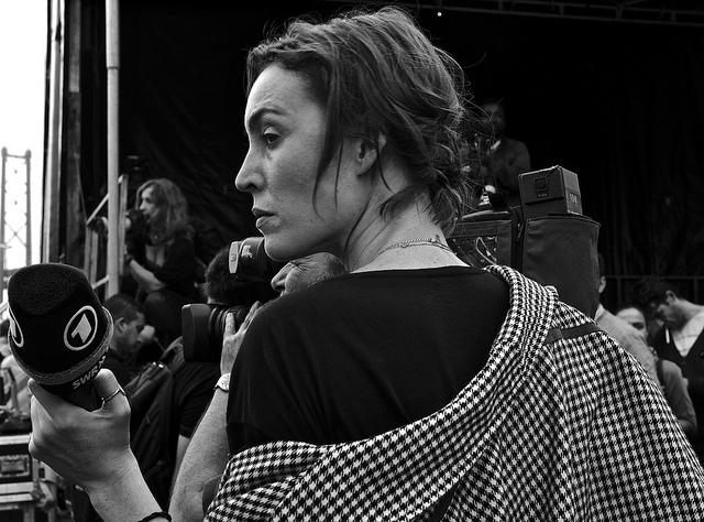 Giornalista Tv, foto di Pedro Ribeiro Simones - Flickr.com