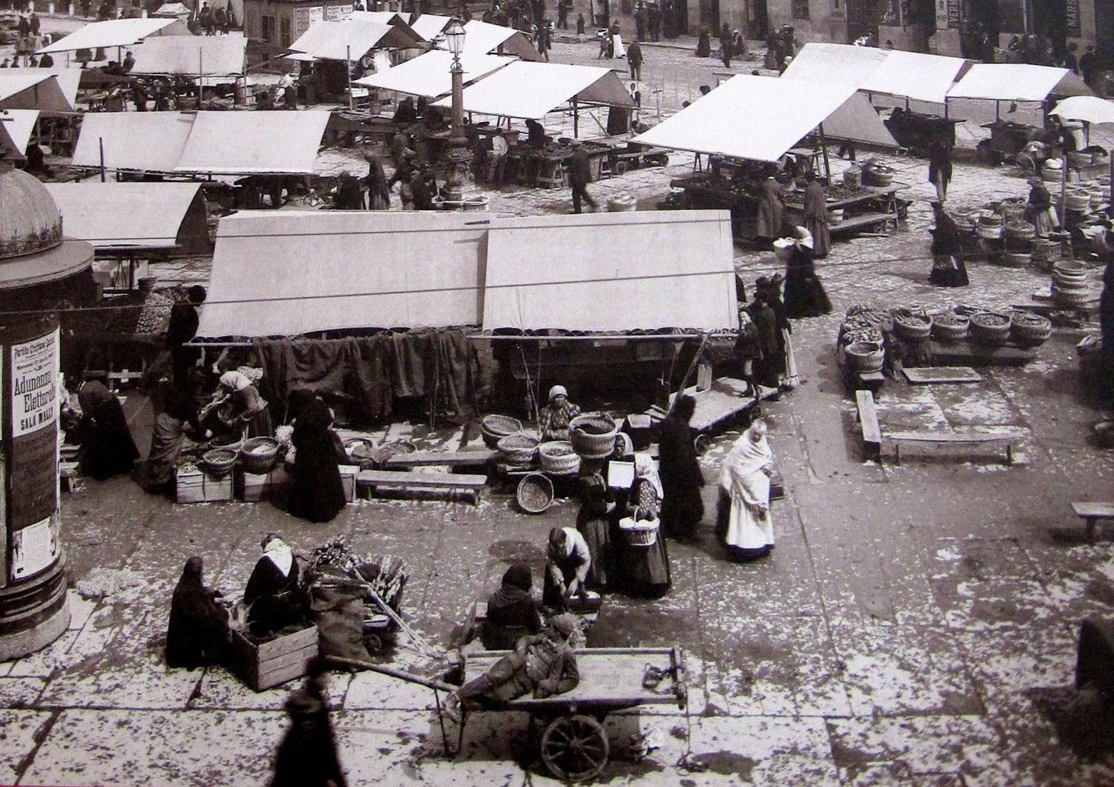 Venderigole a Trieste, foto d'epoca