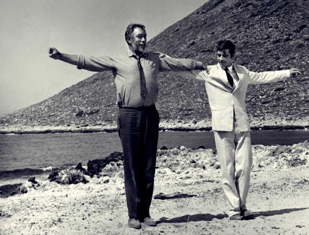 Una scena del film di Kakojanis, Zorba The Greek (1964)