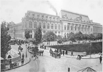 Il Palazzo di Giustizia a Bucarest nel 1900 - Di Alexandru Antoniu