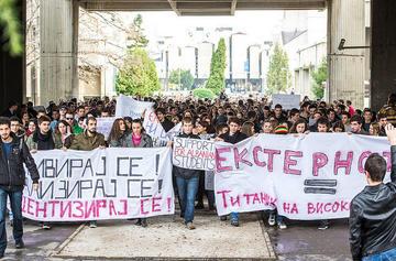Le proteste di novembre in Macedonia (FOSIM/flickr)