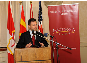 Nikola Gruevski in 2009 (photo by Zoran Karapancev/Shutterstock)