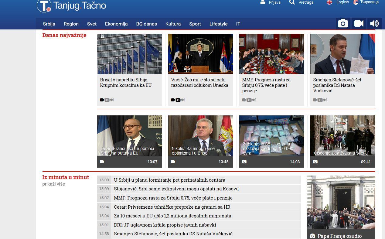 Web portal Tanjug