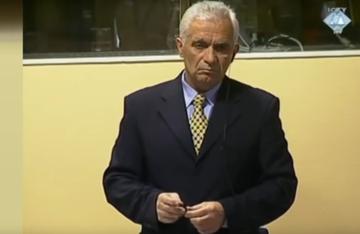 Momčilo Krajišnik presso il Tribunale dell'Aja