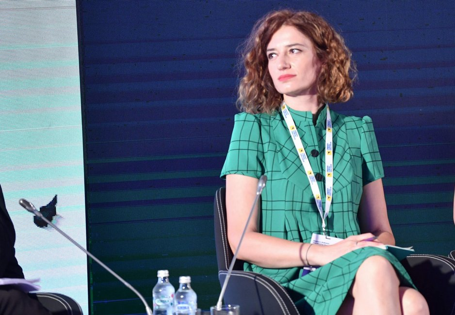 Jovana Marović ad un recente convegno, foto tratta dal suo account Twitter