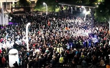 Manifestazione a Podgorica (Sloboda Traži Ljude)
