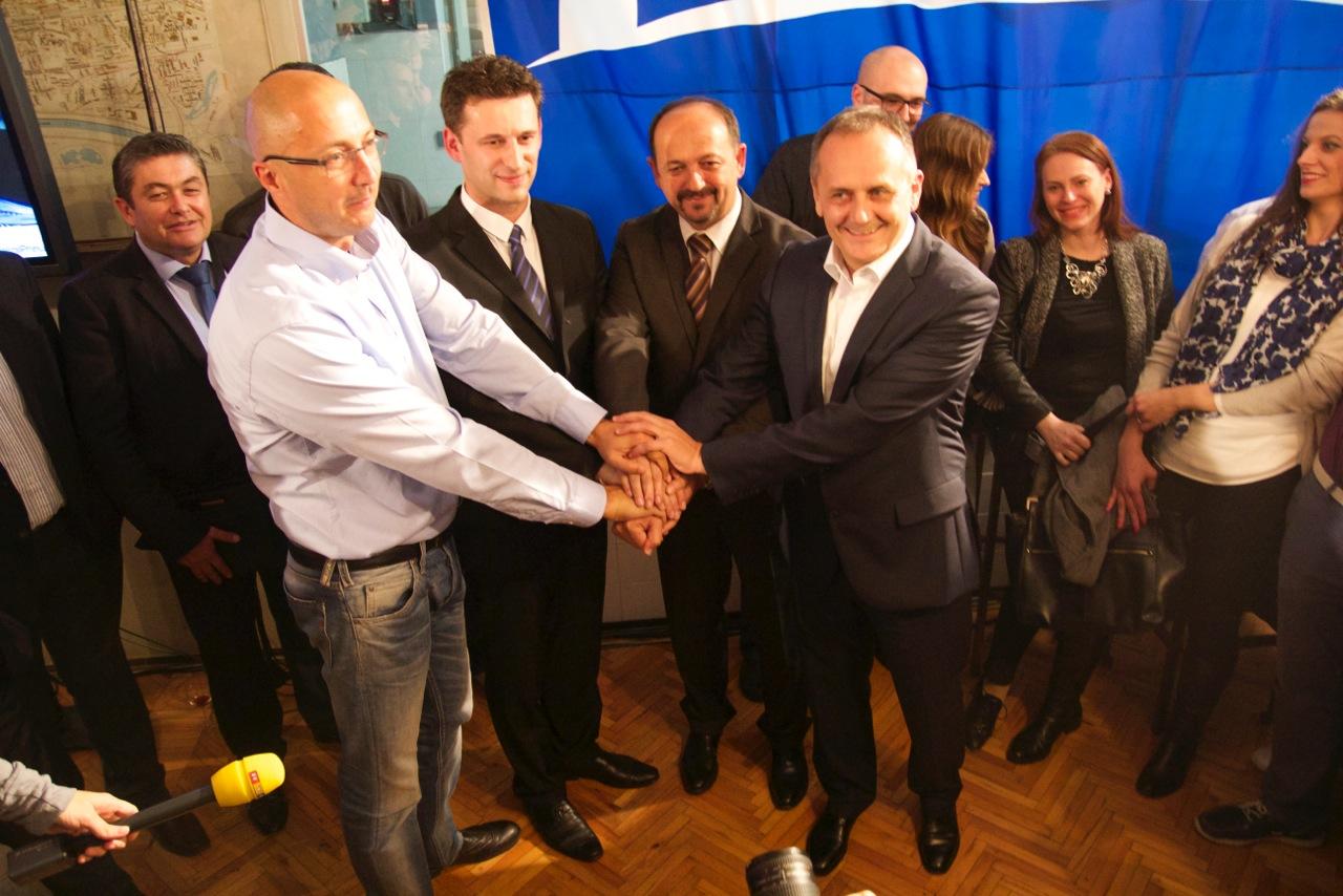 Most festeggia il successo elettorale (foto G. Vale)
