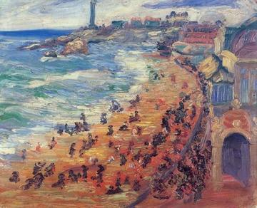 Spiaggia in Bretagna, 1910 - Nadežda Petrović