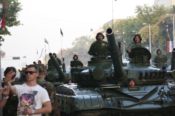 La parata militare per Oluja a Zagabria - Foto @LaetiMoreni