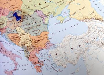 Mappa dei Balcani - ©  JPstock/Shutterstock
