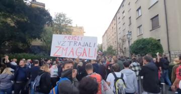 Le proteste a Lubiana dello scorso 5 ottobre - Youtube