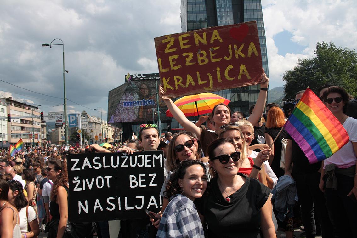 Il Pride a Sarajevo - (foto di Alfredo Sasso)