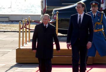 Vladimir Putin e Aleksandar Vučić, 17 gennaio 2019 (Foto © Golden Brown/Shutterstock)