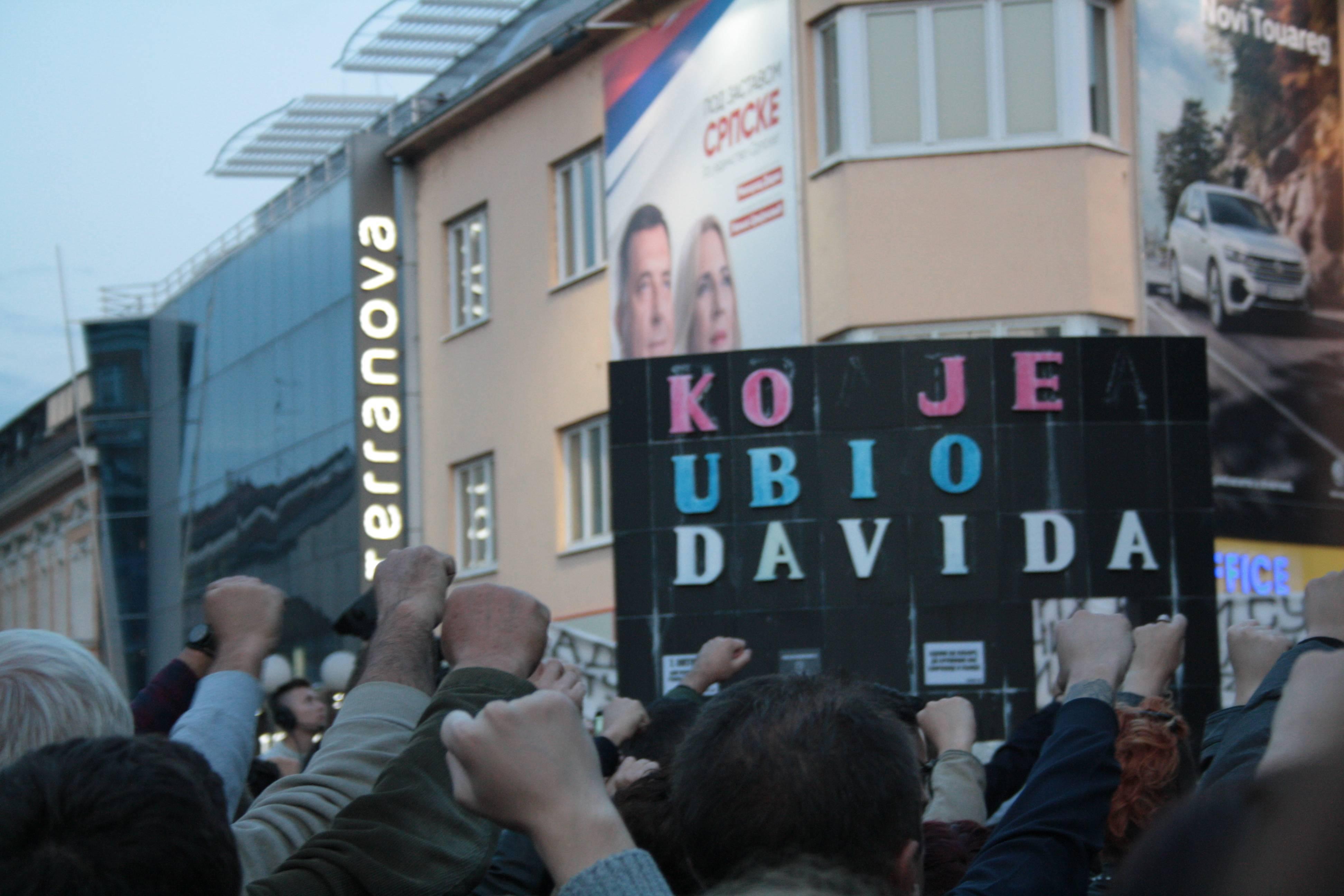 Banja Luka, durante una delle manifestazioni di Pravda za Davida (foto A.Sasso)