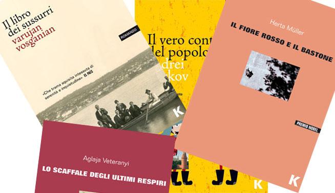 Alcune copertine di libri pubblicati da Keller Editore