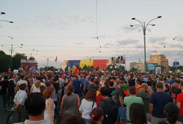 Bucarest Piazza Vittoria, 10 agosto 2018 - Foto di Giorgio Comai (OBCT).jpg