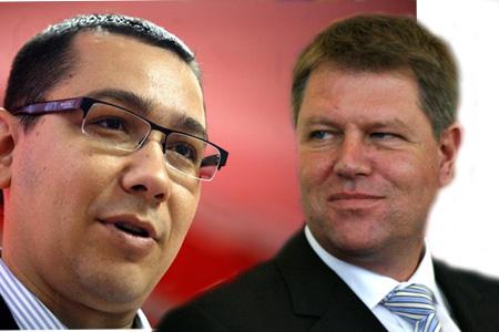 Victor Ponta e Klaus Iohannis, fotomontaggio