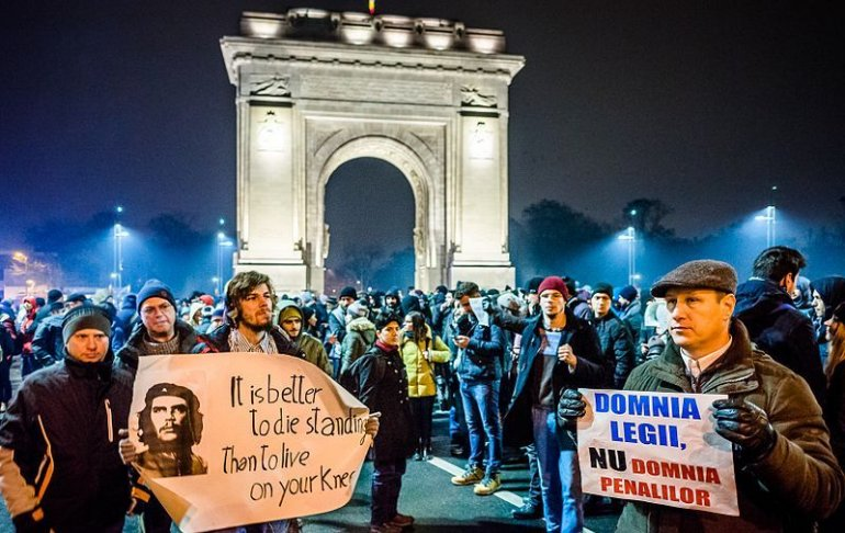 Bucarest, proteste nell'inverno scorso - Wikipedia
