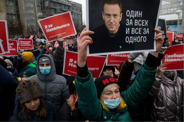 Proteste a Mosca a favore di Navalny - © NickolayV/Shutterstock