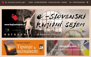 Il portale del Salone del libro sloveno