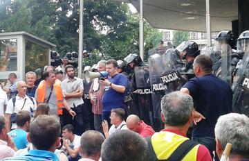 Sarajevo, proteste dei lavoratori (foto di R. Toè)