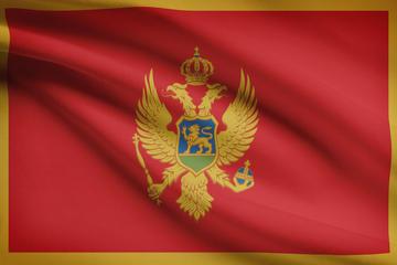 La bandiera del Montenegro © Niyazz/Shutterstock