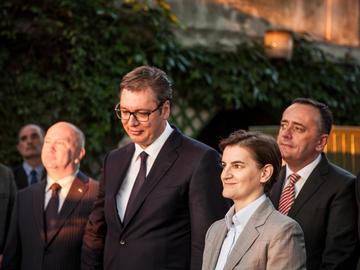 Aleksandar Vučić i Ana Brnabić © BalkansCat/Shutterstock