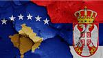 Rappresentazione grafica dello scontro tra Serbia e Kosovo attraverso la giustapposizione delle relative bandiere nazionali - © danielo/Shutterstock