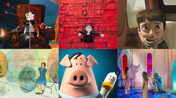 Immagini di vari film d'animazione prodotti in Serbia