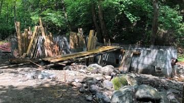 Cantiere della mini idrocentrale di Tošovići sul fiume Palnska (foto © CINS)