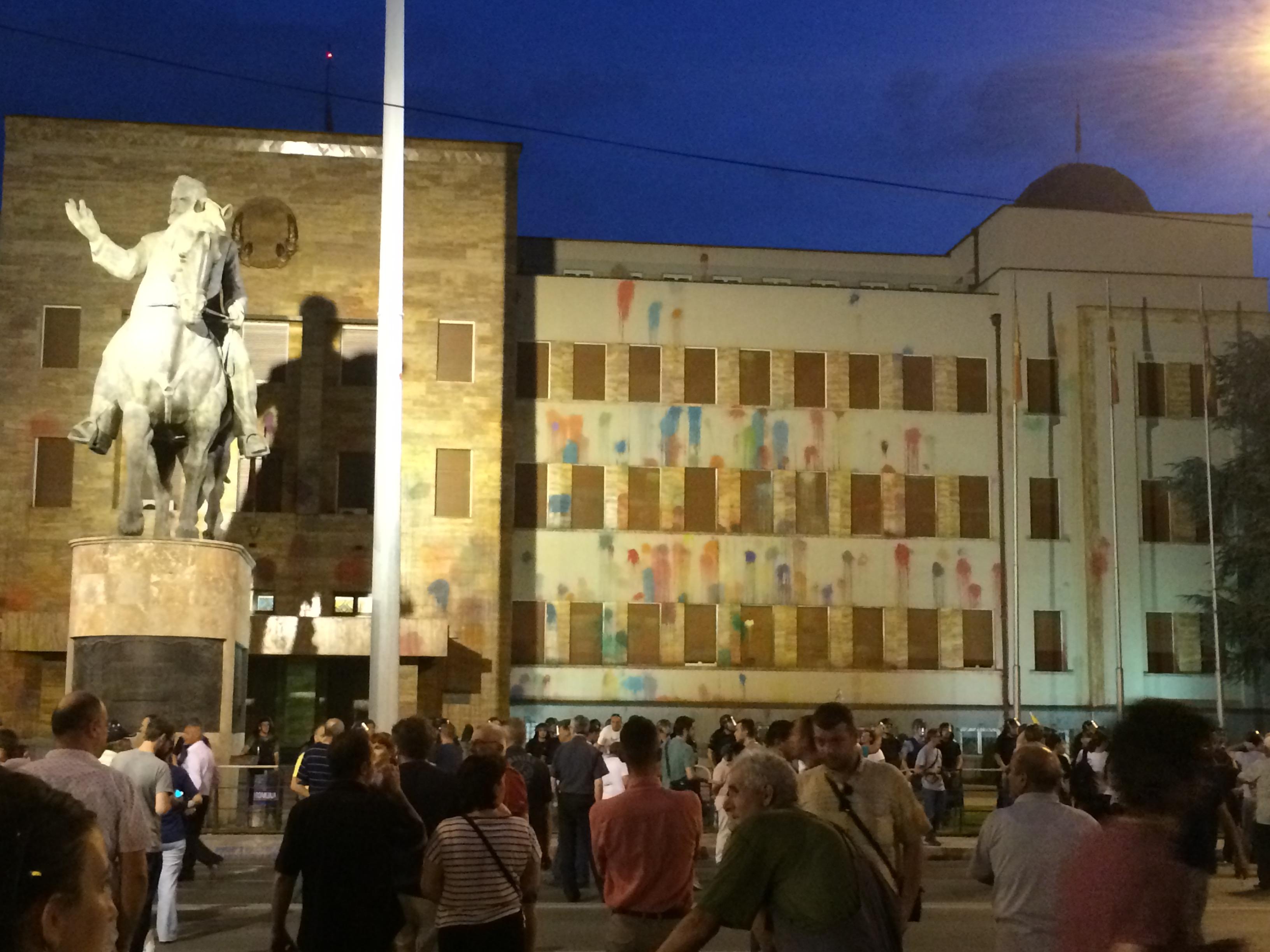 Skopje in piazza gallerie media osservatorio balcani for Parlamento sede