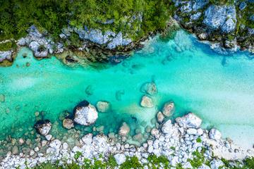 Foto aerea del corso del fiume Isonzo in Slovenia - © Nuria Kreuser/Shutterstock