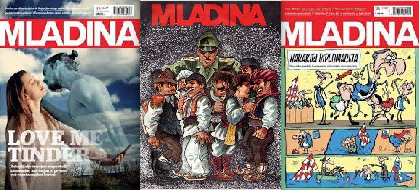 """Tre copertine del settimanale sloveno """"Mladina"""""""