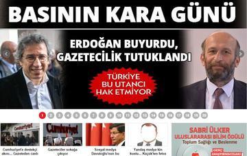 La prima pagina odierna di Cumhuriyet