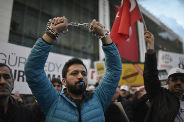 Turkey, protest for press freedom in the country - Orlok/Shutterstock